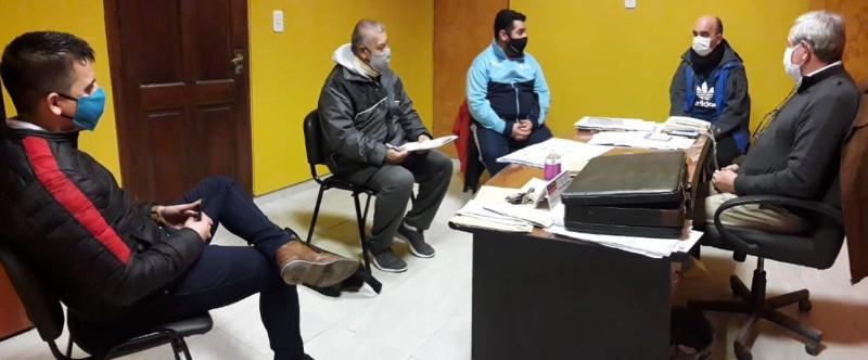 Visita del director de Deportes Alejandro Bagatto