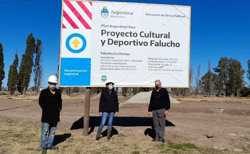 Relevan obra del Centro Cultural y Deportivo Falucho
